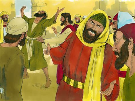 freebibleimages jesus heals  man   withered hand