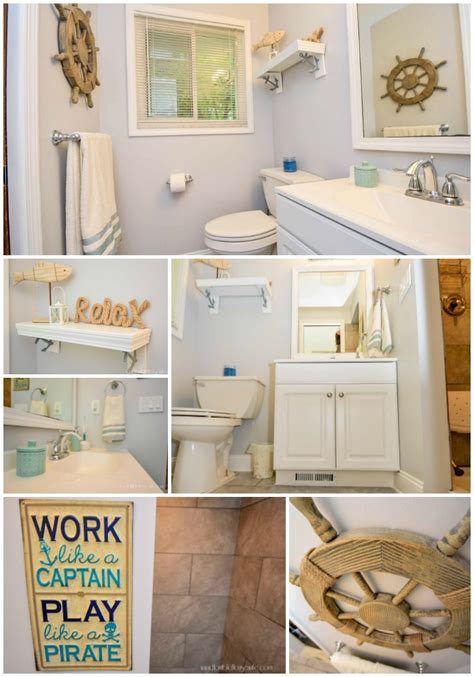cheap themed bathroom decor from pink to chic a nautical bathroom remodel horrible