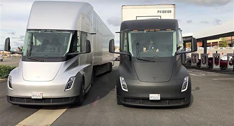 Tesla Semi Trucks Make A Surprise Supercharger Visit On
