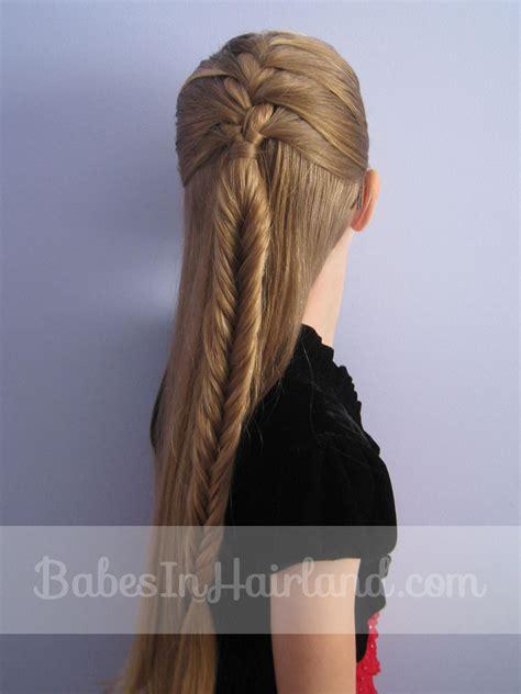 french braid   fishbone braid babes  hairland