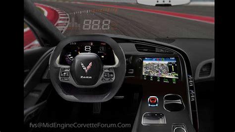 ortadan motorlu corvettein ic mekani hayal edilmis