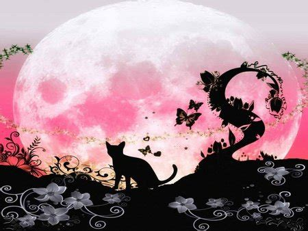 pink fairy moon fantasy abstract background wallpapers