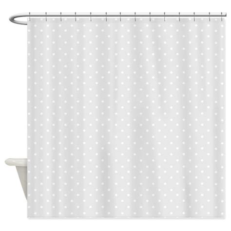 gray and white shower curtain small gray polka dots shower curtain by inspirationzstore