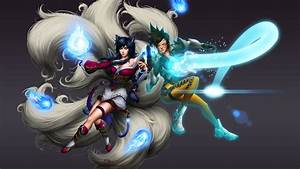 Ahri VS Tracer Full HD Wallpaper And Background