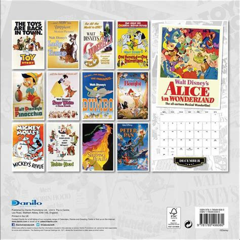 calendrier affiche disney vintage