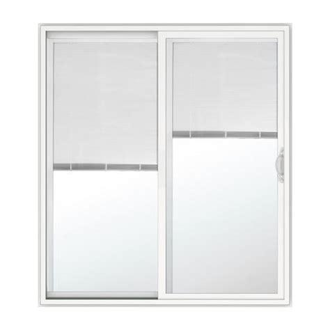 jeld wen sliding patio doors menards jeld wen builders series white vinyl right sliding
