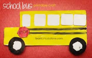 School Bus Craft for Preschoolers