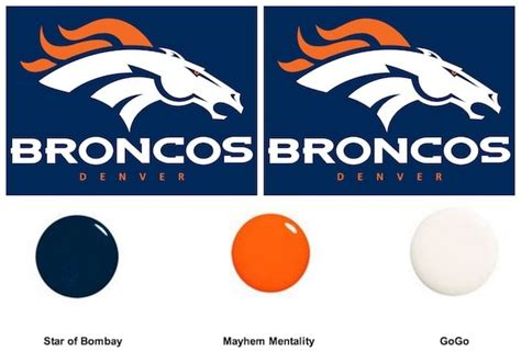 what are the denver broncos colors denver bronco fans nail colors you need for the