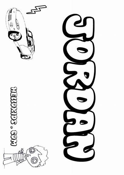 Jordan Coloring Pages Names Hellokids Boys Popular