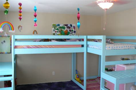 187 l shaped loft bunk bed planspdfwoodplans