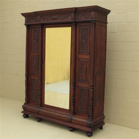 armoire vintage chambre bedroom cool antique wardrobe with mirror armoire