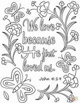 Coloring Loved Because Bible Verse God Printable Verses Crafts Colouring Nature Supercoloring Sheets Scripture Quotes Sunday Adult Printables Drawing Adults sketch template