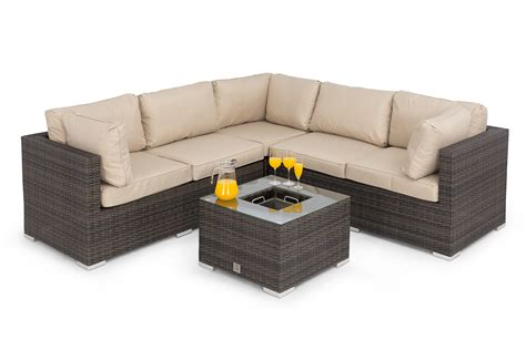 Porto Corner Sofa Set With Inset Ice Bucket