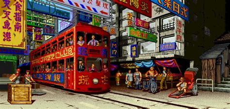 Beautiful animated gifs of fighting game backgrounds