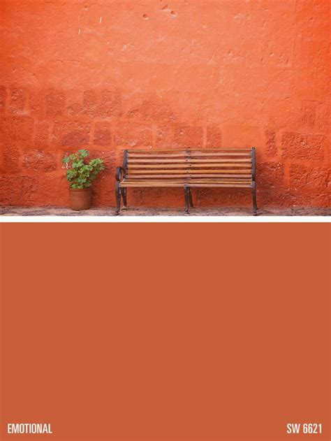 sherwin williams orange paint color emotional sw