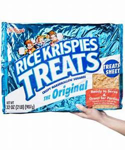 Giant Rice Krispie Treat: Super-sized puffed rice and