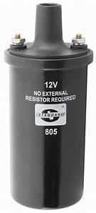 Ignition Coil  1954  Internal Resistor