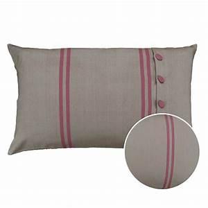 Housse De Coussin 50x70 : housse de coussin en coton et lin 50x70 marron interior 39 s ~ Teatrodelosmanantiales.com Idées de Décoration