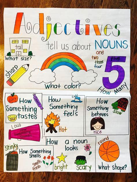 adjectives    nouns anchor chart noun anchor