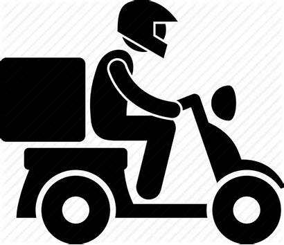Shipping Delivery Icon Motorcycle Rider Motorbike Icons