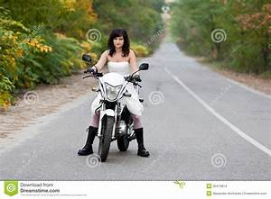 bride on motorcycle stock images image 35474814 With motorcycle wedding dress