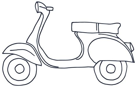 Pencil And In Color Scooter