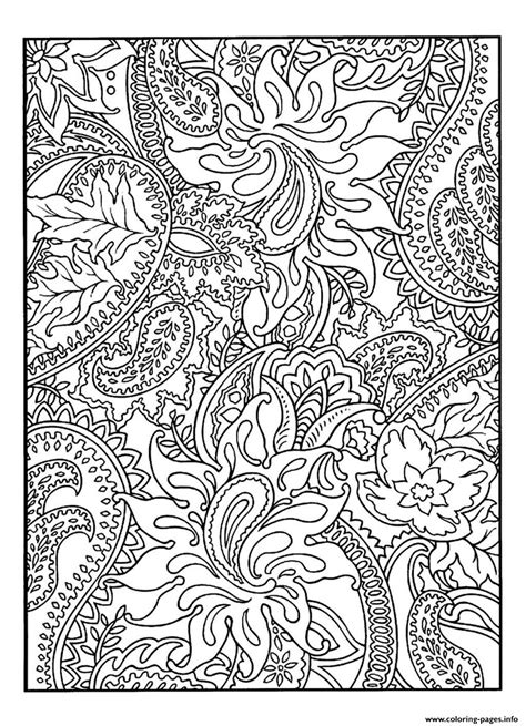 adult pretty patterns plant coloring pages printable