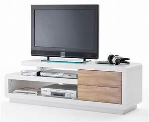 Meuble Tv Bois Design : meuble tv bois massif blanc ~ Preciouscoupons.com Idées de Décoration