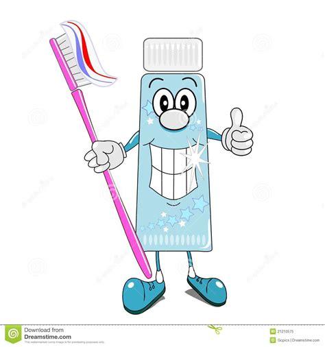dessin anim 233 de p 226 te dentifrice et de brosse 224 dents photo libre de droits image 21210575