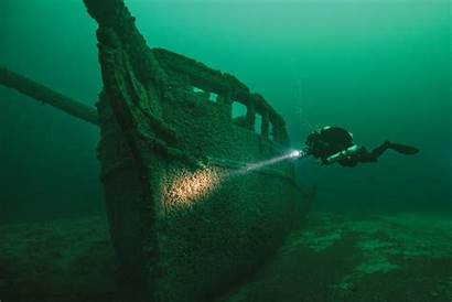 Shipwrecks Underwater Lake Michigan Milwaukee Wisconsin Washington