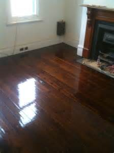 Polishing Hardwood Floors by Baltic Pine Floors Before And After Polishing Timber