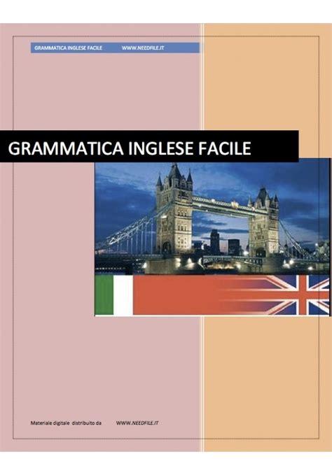 dispense inglese grammatica inglese facile