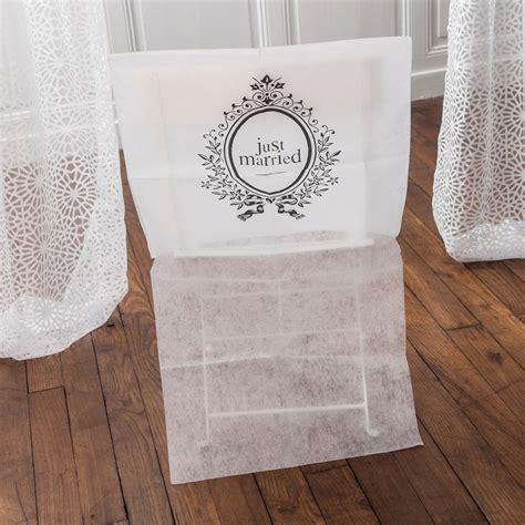 housse de dossier de chaise housses de chaises pour mariage just married