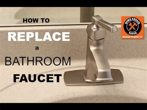 replace  bathroom faucet  home repair tutor