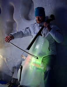 Ice Sculptures Music Cello