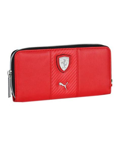 puma women red ferrari wallet buy    price