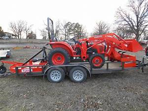 L3800 Kubota 4wd Tractor With Loader  Trailer  Equipment