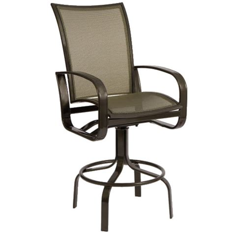cayman isle flex swivel bar stool by woodard outdoor