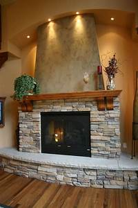 Fireplace-made-from-tiny-rocks, -, Home, Decorating, Trends