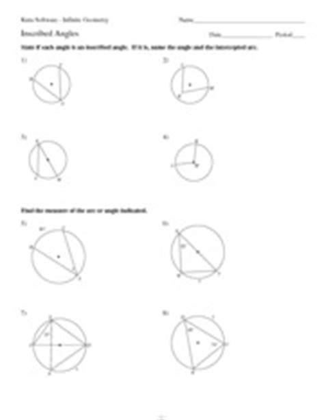 11 inscribed angles kuta software infinite geometry name