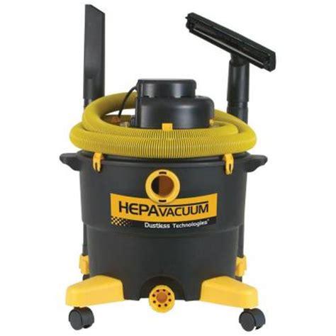 vacuum rental home depot dustless technologies 16 gal hepa vacuum 16006 Hepa