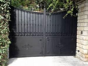 Portail Sur Mesure : portail fer forg sur mesure portillon int gr mod le ~ Melissatoandfro.com Idées de Décoration