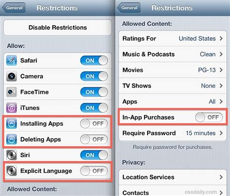 how to set parental controls on iphone how to use restrictions as parental controls on an iphone