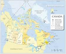 Physical Map Of Canada America physical map   Canada Physical Map