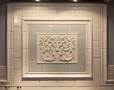 Field tiles for decorative ceramic murals for kitchen