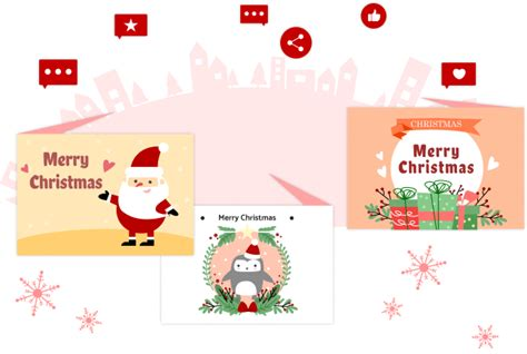 christmas card maker  editableedrawmax