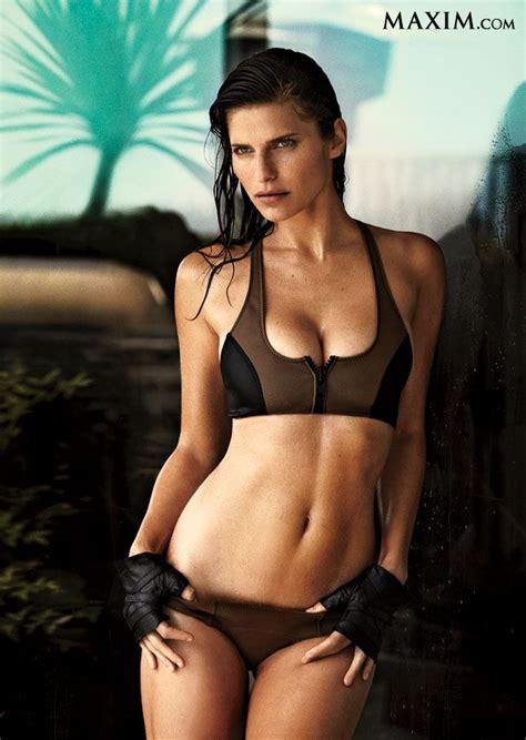 lake bell bikini lake bell in black and brown zip bikini with hands on