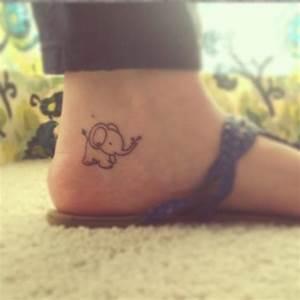 So cute Elephants on foot Female tattoofemale tattoos gallery