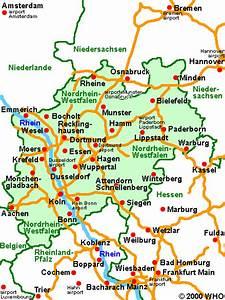 Nord Rhein Westfalen : northrhine westphalia road map distances castle hotel bonn city cologne koln rhine river germany ~ Buech-reservation.com Haus und Dekorationen