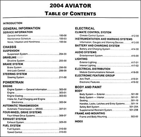 lincoln aviator repair manual lincoln aviator